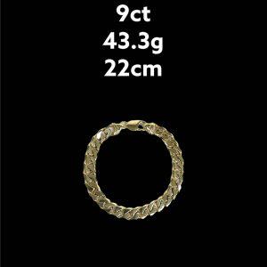 Buy from Ezigold   Gold Bracelet 9ct 43.3g 22cm