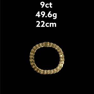 Buy from Ezigold   Gold Bracelet 9ct 49.6g 22cm