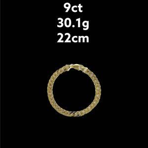 Buy from Ezigold   Gold Bracelet 9ct 30.1g 22cm