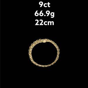 Buy from Ezigold   Gold Bracelet 9ct 66.9g 22cm